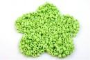 Margele nisip, verde opac, rotund, 2mm
