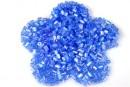 Margele nisip, albastru cu reflexii curcubeu, 3mm