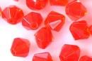 Margele sticla presata, biconic, portocaliu intens - x50