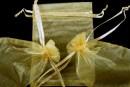Saculet organza, topaz auriu, 12x9cm - x20