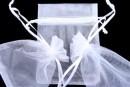 Saculet organza, alb, 12x10cm - x20