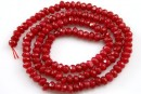 Agate, ruby red, handmade faceted, 4.5x2.5mm