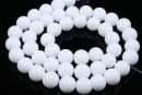 White agate, round, 8mm