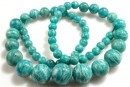 Russian  amazonite, green sea, round, AA grade, 6-12mm