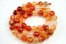 Carnelian, faceted round, 8mm