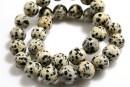 Dalmatian jasper, round, 12mm