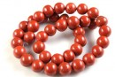 Red jasper, round, 12mm
