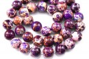 Sediment jasper, vintage purple, round, 10.5mm