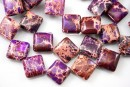 Sediment jasper, vintage purple, flat square, 21x21mm