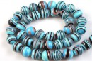 Turquoise-black syntethic malachite, round, 8mm