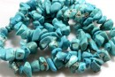 Turquoise magnesite, free form nugget, 8-17mm