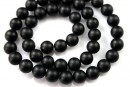Onix matt black, round, 10mm