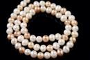 Perle de cultura - 6mm, mix de alb, piersica si mov nisipiu