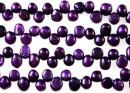 Perle de cultura - 7mm, spic, mov intens metalizat