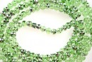 Margele sticla efect, verde-argintiu, 4.2mm - x230