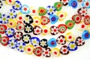 Margele chevron, inima, multicolor, 8mm