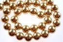Perle Mallorca, rotund, auriu,  10mm