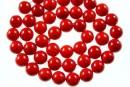 Perle Mallorca, rotund, rosu intens,  8mm