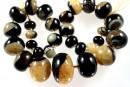 Natural agate, druzy quartz geode, yellow, round donnuts, 12-30mm