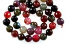 Agate, crab fire, faceted, multicolor, 10mm