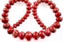 Sediment jasper, intense red, donnuts, 10.5-21mm