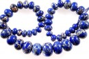 Sediment jasper, royal blue, donnuts, 10.5-21mm