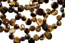 Tiger eye, free form nugget, 12-14mm