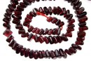 Red garnet, flat oblique square, 5-5.5mm