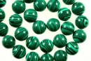 Green syntethic malachite, round, 4mm