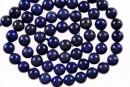Natural lapis lazuli, round, A grade, 6.5mm