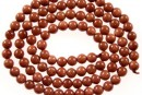 Brown goldstone, round, 6mm