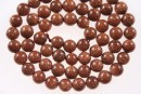 Brown goldstone, round, 8mm