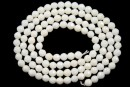 Agate, faceted round, ivory, 3mm