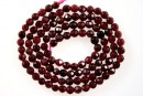 Red garnet, faceted round, 3.5mm