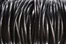 Snur piele naturala, negru, 3mm - x1m