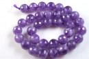 Amethyst, faceted round, 14mm