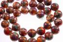 Multicolor syntethic malachite, round, 10mm
