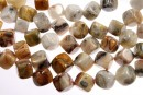 Natural crazy agate, free form cube , 10mm
