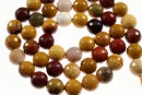 Moukaite jasper, faceted round, 8.5mm