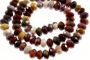 Moukaite jasper, faceted rondelle, 8.5mm