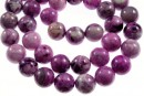 Crazy purple agate, round , 10mm