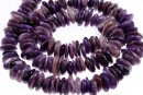 Charoite, free form disc, 9-12mm