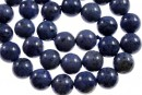 Denim blue dumortierite, round, 10.5mm