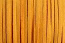 Snur faux suede, galben ocru, 3mm - x5m