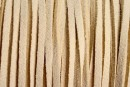 Snur faux suede, ivory intens, 3mm - x5m