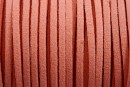 Snur faux suede, somon, 3mm - x5m
