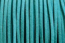 Snur faux suede, turcoaz, 3mm - x5m