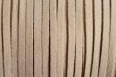 Snur faux suede, gri nisipiu intens, 3mm - x5m