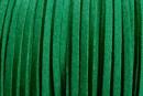 Snur faux suede, verde crud, 3mm - x5m