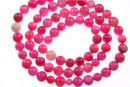 Margele sidef roz intens, rotund, 5-5.5mm